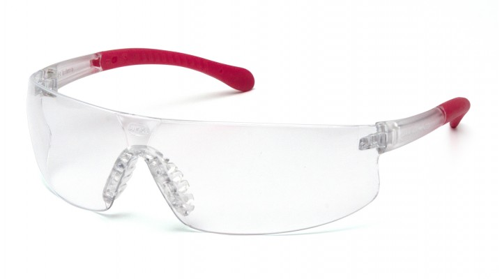 Clear Anti-Fog Lens with Pink Temples