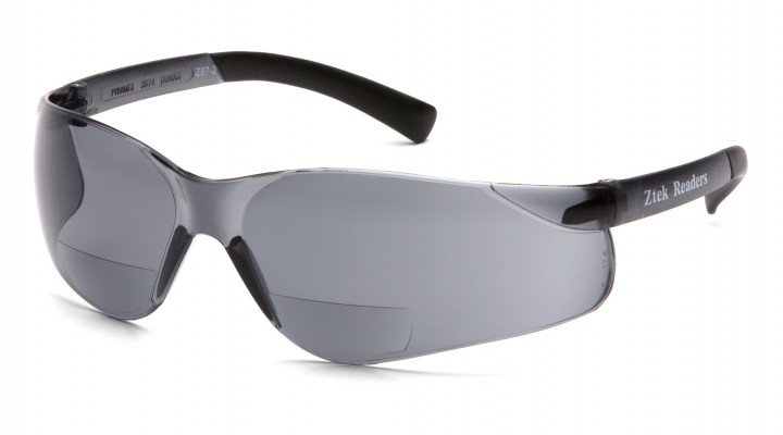 Gray +2.0 Lens with Gray Temples