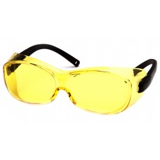 Amber Lens with Black Temples