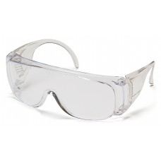 Dispenser packaging includes 12 individually wrapped, clear lens glasses.