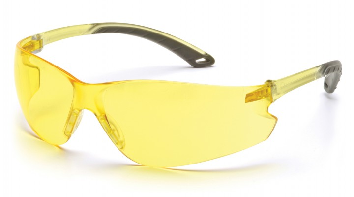 Amber Lens with Amber Temples