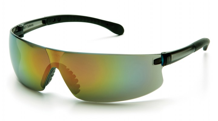 Multi-color Mirror Lens with Gray Temples