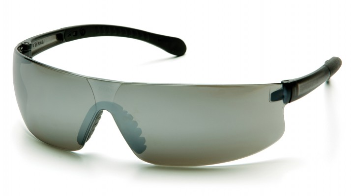 Silver Mirror Lens with Gray Temples