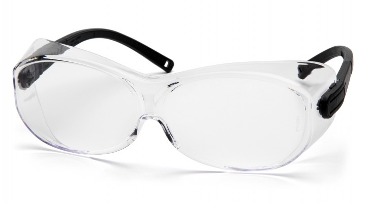 Pyramex Safety - OTS XL - Black Temples/Clear Lens - Clear Lens