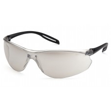 Indoor/Outdoor Mirror Anti-Fog Lens with Black Temples