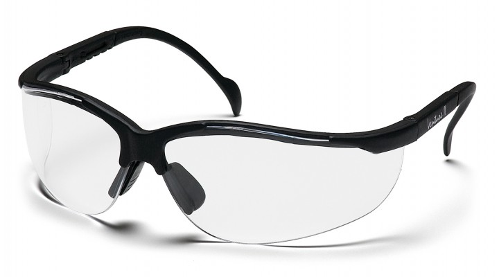 Pyramex Safety - Venture II - Black Frame/Clear Lens - Clear Lens