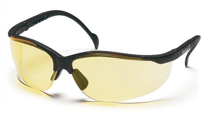 Amber Lens with Black Frame
