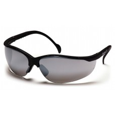 Silver Mirror Lens with Black Frame