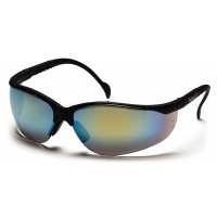Gold Mirror Lens with Black Frame