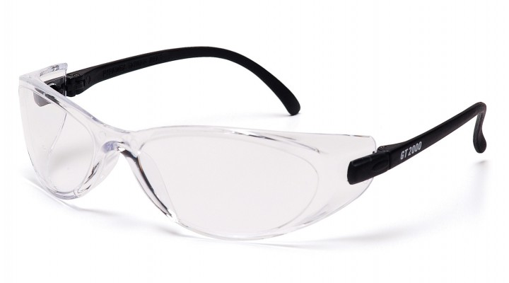 Clear Lens with Black Temples