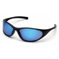 Ice Blue Mirror Lens with Matte Black Frame