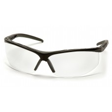 Clear Lens with Black Frame Gray Cushioned Brow Protector