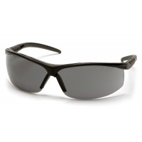 Gray Lens with Black Frame Gray Cushioned Brow Protector