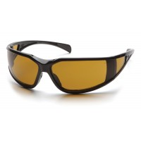 Shooter's Amber Anti-Fog Lens with Black Frame