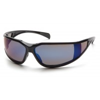 Blue Mirror Anti-Fog Lens with Black Frame