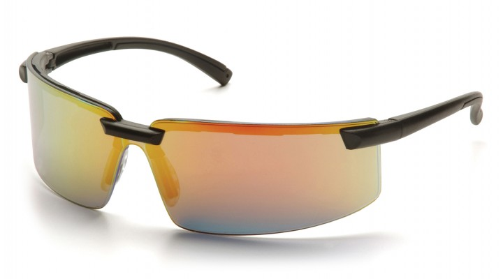 Ice Orange Mirror Lens with Black Frame