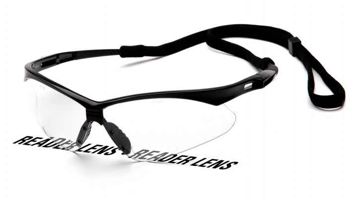 Clear +2.5 Lens with Black Frame and Cord