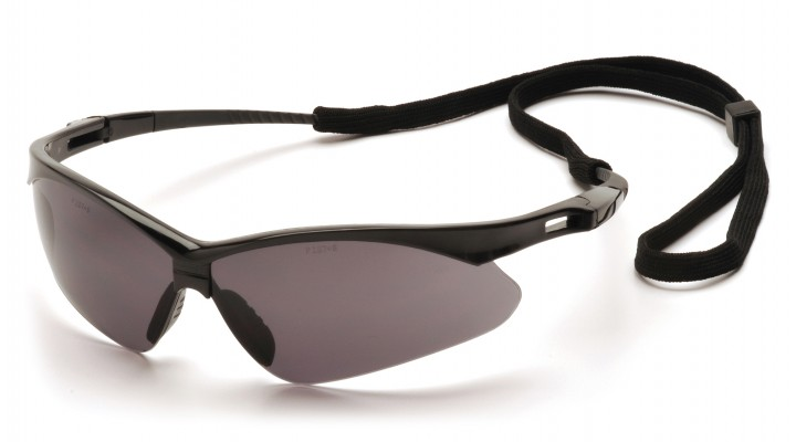 1060cb477699 Gray Lens with Black Frame and Cord - Pyramex Safety