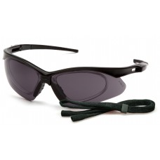 Gray Anti-Fog Lens with Black Frame and Cord