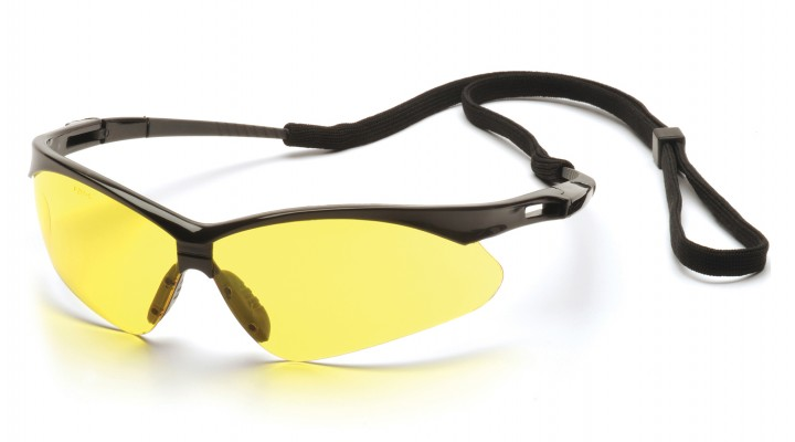 Amber Lens with Black Frame and Cord