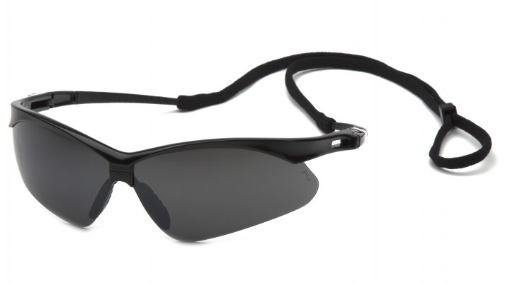 Smoke Green Mirror Lens with Black Frame and Cord