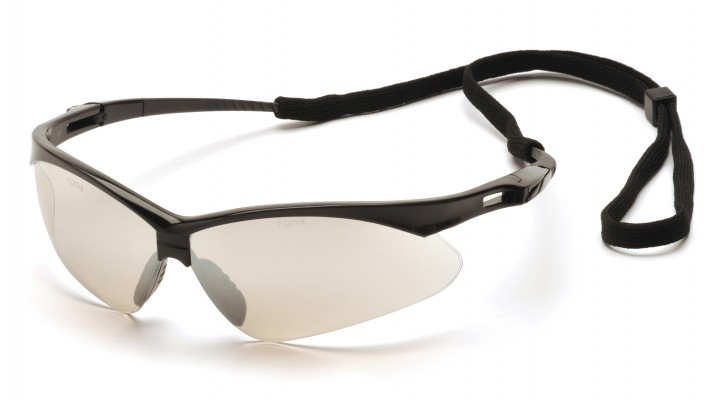 Indoor/Outdoor Mirror Lens with Black Frame and Cord