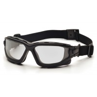 Clear Dual H2X Anti-Fog Lens with Black Temples/Strap