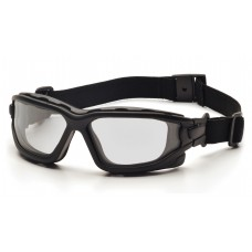 Clear Dual Pane H2X Anti-Fog Lens with Black Temples/Strap