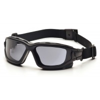 Gray Dual Pane H2X Anti-Fog Lens with Black Temples/Strap  ***Slim model ***