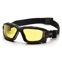 Amber Dual H2X Anti-Fog Lens with Black Temples/Strap