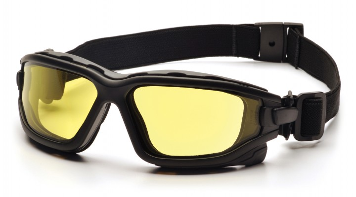 Amber Dual Pane H2X Anti-Fog Lens with Black Temples/Strap