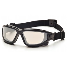 Indoor/Outdoor Mirror Dual Anti-Fog Lens with Black Temples/Strap