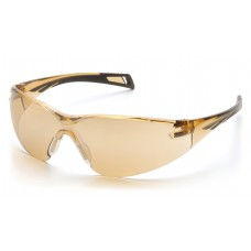 Sandstone Bronze Lens with Black Temples