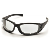 Clear Anti-Fog Lens with Matte Black Frame/Strap