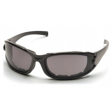 Gray Polarized Anti-Fog Lens with Glossy Black Frame/Strap