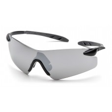 Silver Mirror Lens with Black Temples