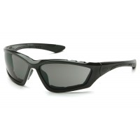Gray Anti-Fog Lens with Padded Black Frame