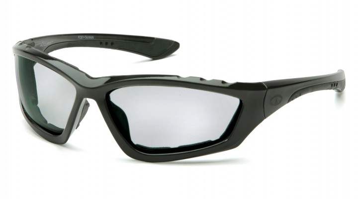 Light Gray Anti-Fog Lens with Padded Black Frame
