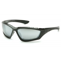 Silver Mirror Lens with Padded Black Frame