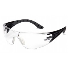 Clear H2X Anti-Fog Lens with Black and Gray Temples
