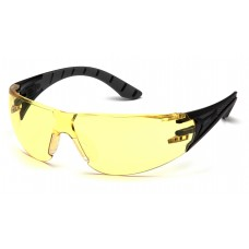 Amber Lens with Black and Gray Temples