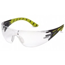 Clear H2X Anti-Fog Lens with Black and Green Temples