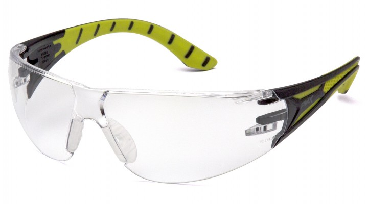 Clear Lens with Black and Green Temples