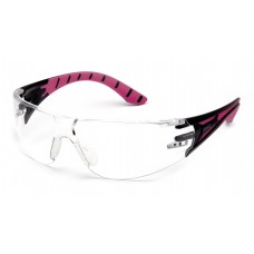 Clear H2X Anti-Fog Lens with Black and Pink Temples