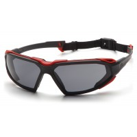 Gray H2X Anti-Fog Lens with Black/Red Frame