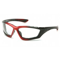 Clear Anti-Fog Lens with Padded Black/Red Frame