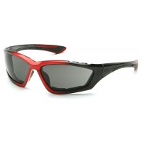 Gray Anti-Fog Lens with Padded Black/Red Frame