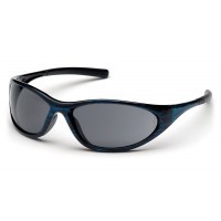 Gray Lens with Blue Wood Frame