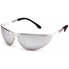 Silver Mirror Lens with Crystal Clear Frame