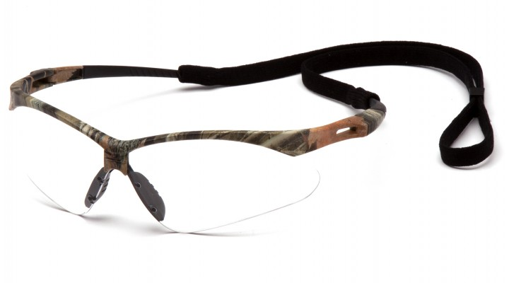 Clear Anti-Fog Lens with Camo Frame and Black Cord